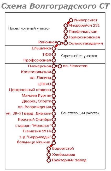 Волгоградский метротрам (его также называют скоростным или подземным трамваем) - это 19 станций, расположенных на...