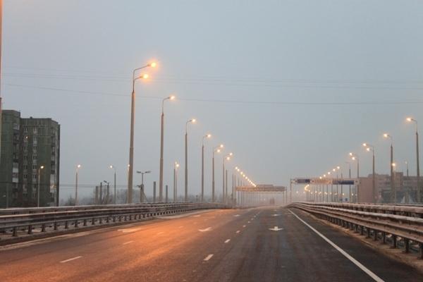 Калининград. дороги.  В Калининграде состоялось открытие движения автомобильного транспорта по второму эстакадному...
