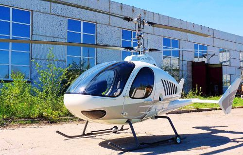 Двухместный вертолет соосной