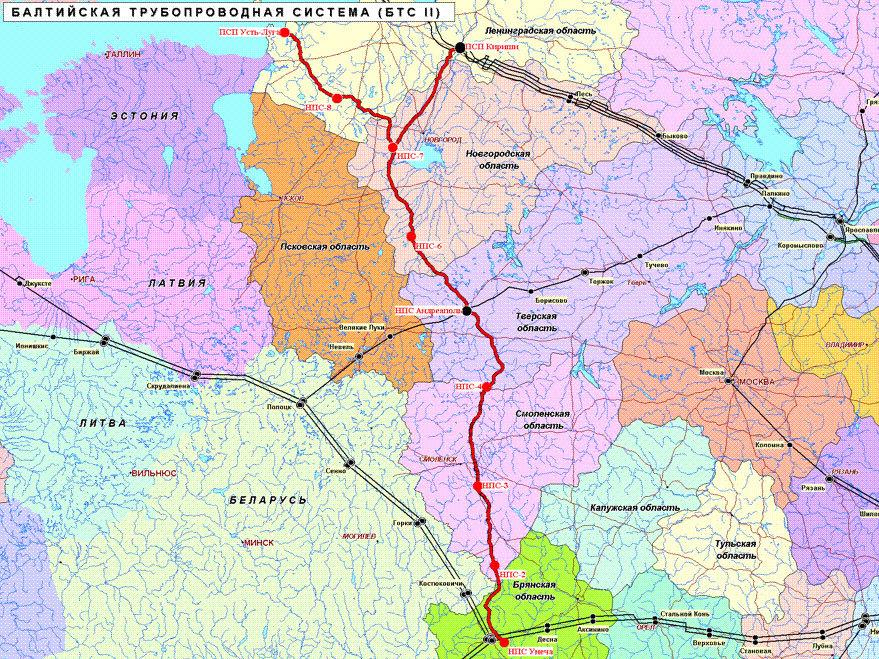 Сданы в эксплуатацию 2694 км линейной части первой очереди нефтепровода (ВСТО-1), хотя функционировать в полном...