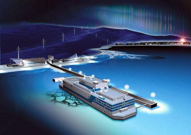 К 2012 году Россия планирует построить первую в мире плавучую атомную электростанцию (ПАТЭС) - разработка поможет...